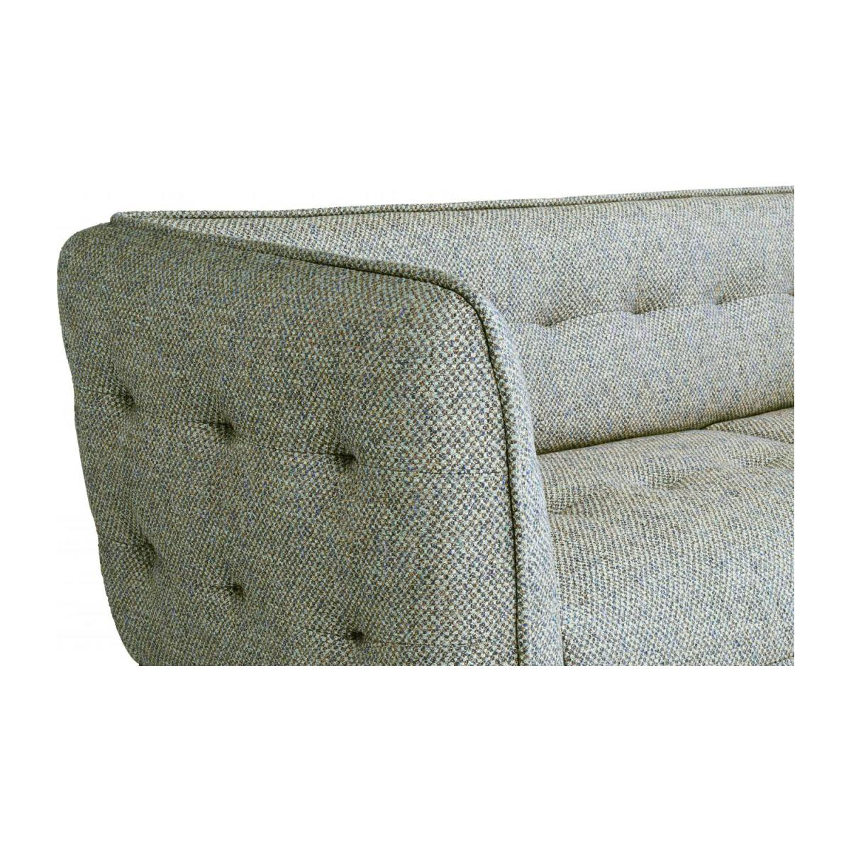 3 seater sofa in Bellagio fabric, organic green and oak legs n°5