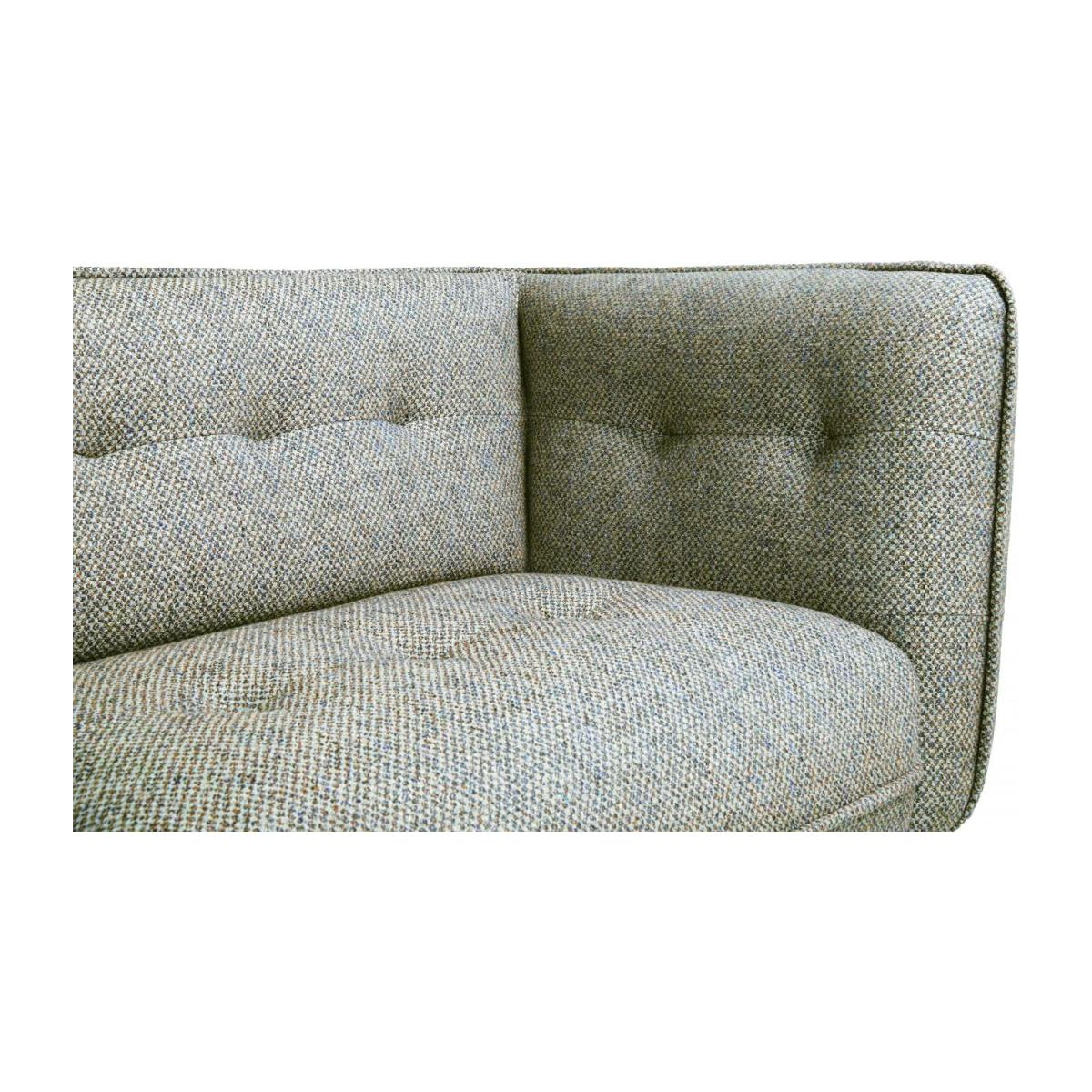 3 seater sofa in Bellagio fabric, organic green and oak legs n°6