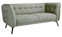 2 seater sofa in Bellagio fabric, organic green and dark legs