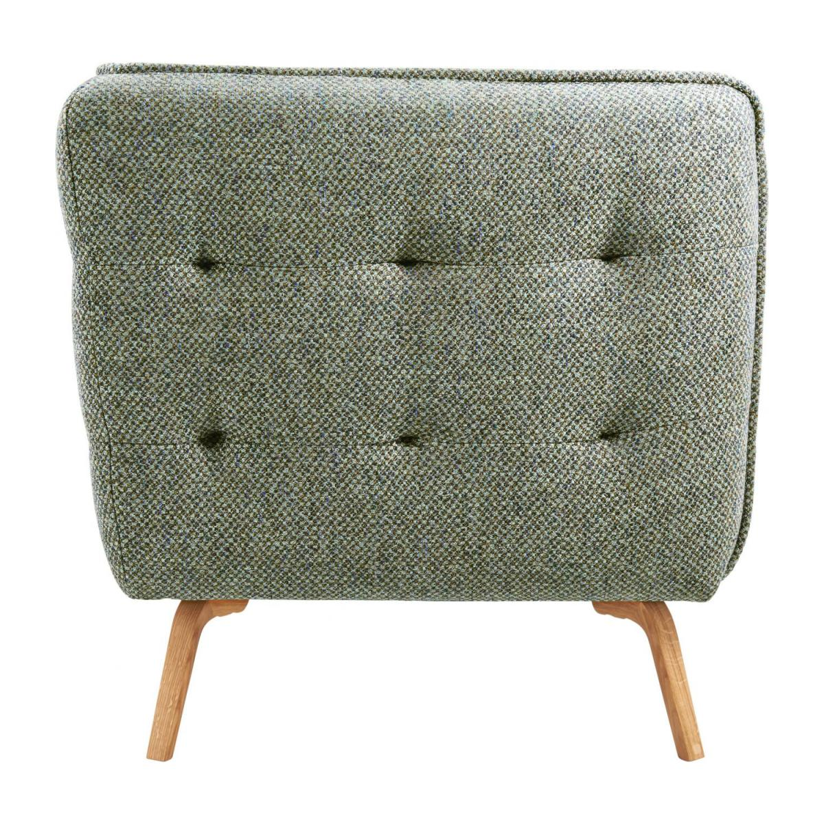 2 seater sofa in Bellagio fabric, organic green and oak legs n°4