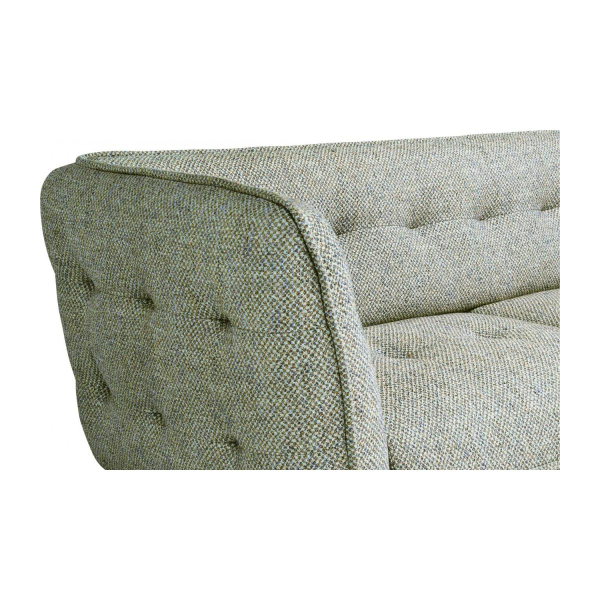 2 seater sofa in Bellagio fabric, organic green and oak legs n°5