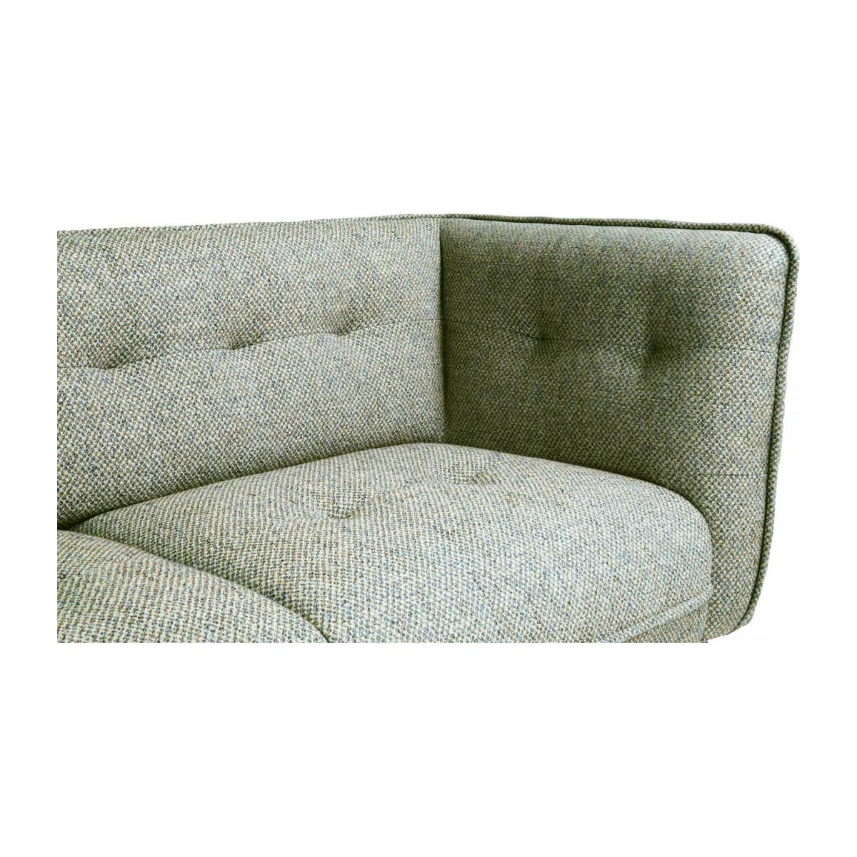 2 seater sofa in Bellagio fabric, organic green and oak legs n°6