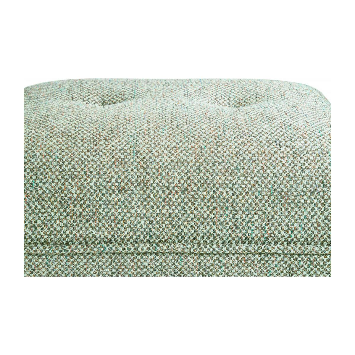Footstool in Bellagio fabric, organic green and dark legs n°6