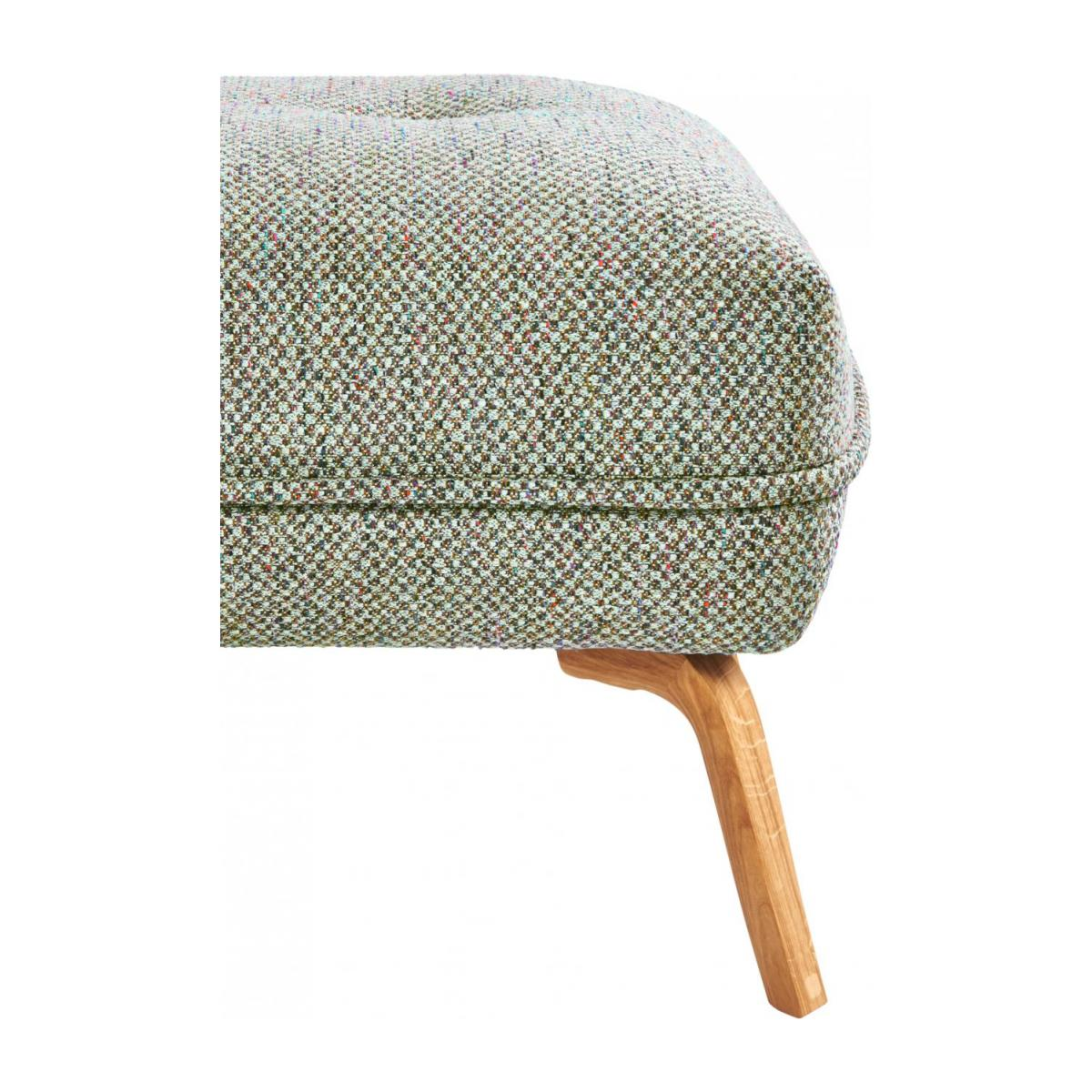 Footstool in Bellagio fabric, organic green and oak legs n°5