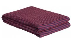 Plaid nid d'abeille en coton - 130 x 170 cm - Rouge
