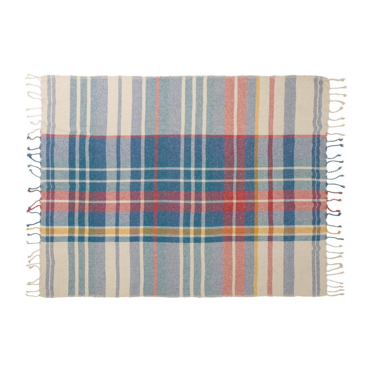 Plaid en Tartan - 130 x 170 cm - Multicolore n°2