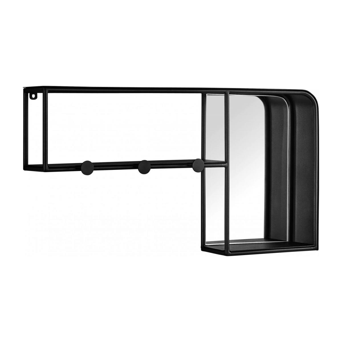 Estantería de pared en metal - Negro n°1