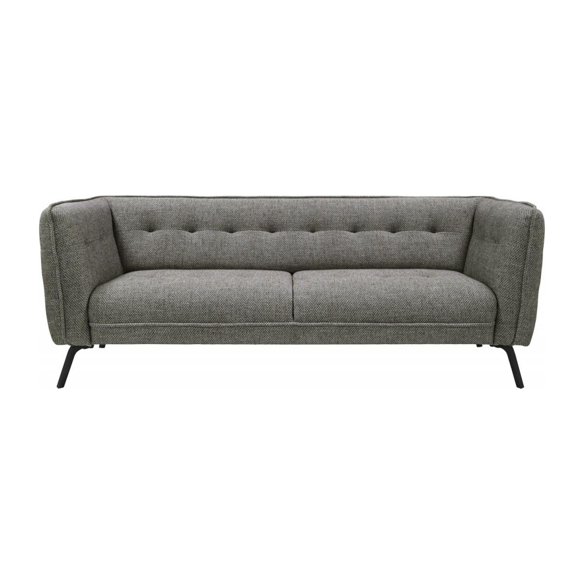 3 seater sofa in Bellagio fabric, night black and dark legs n°3