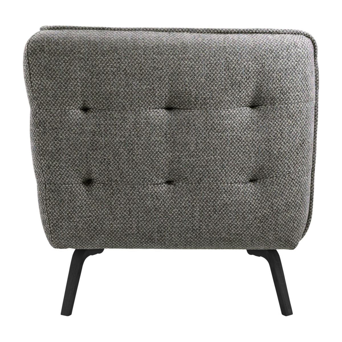 3 seater sofa in Bellagio fabric, night black and dark legs n°5