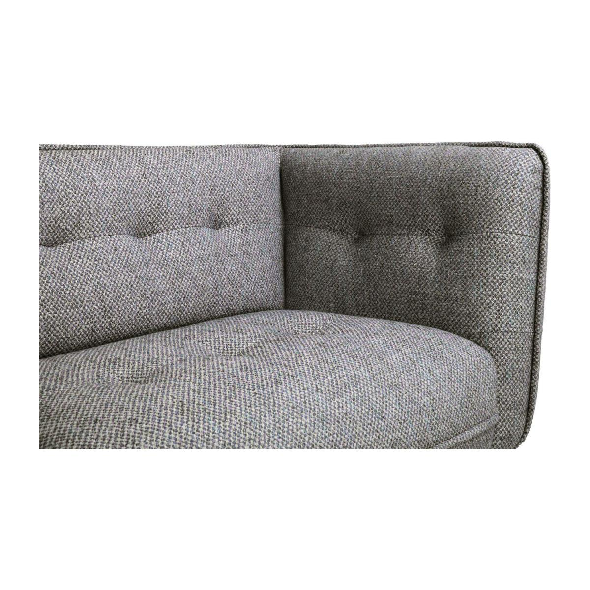 3 seater sofa in Bellagio fabric, night black and dark legs n°7