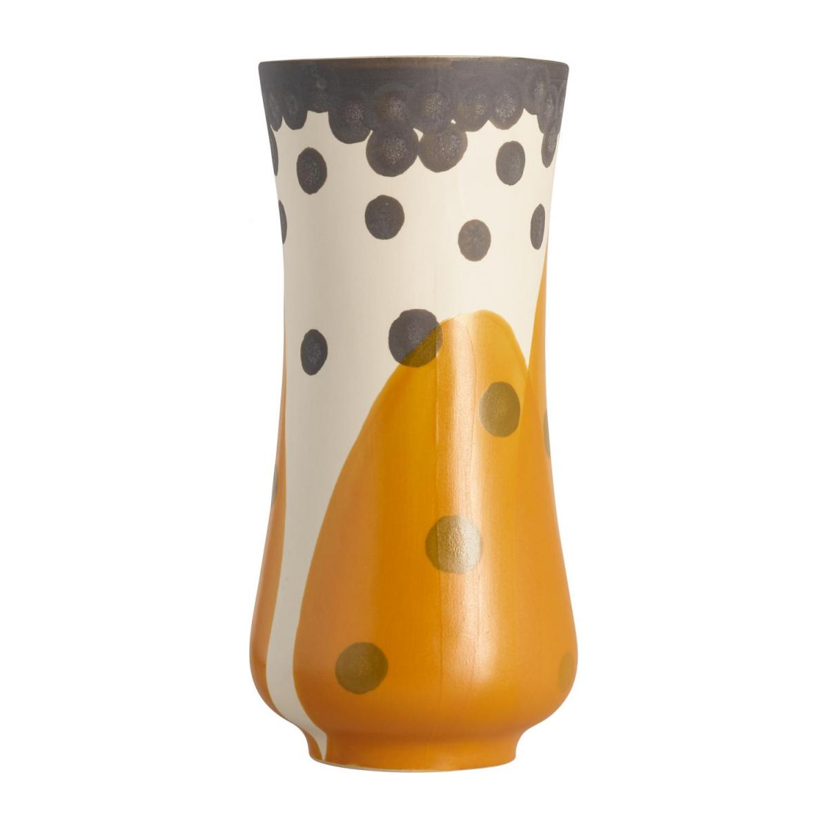 Vase en grès - 24,5 cm - Orange n°3