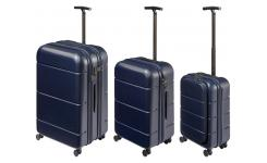 Lot de 3 Valises en Polycarbonate - Bleu