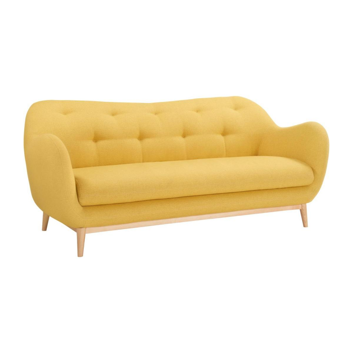 3-seat sofa made of fabric, yellow n°1