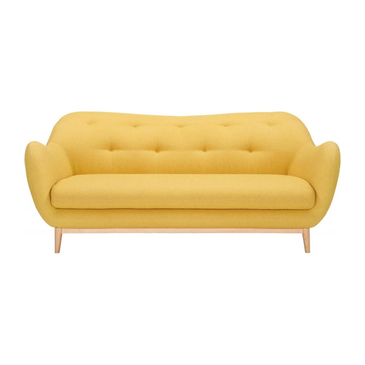 3-seat sofa made of fabric, yellow n°2