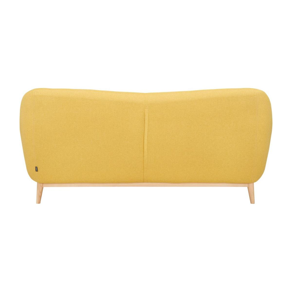 3-seat sofa made of fabric, yellow n°3