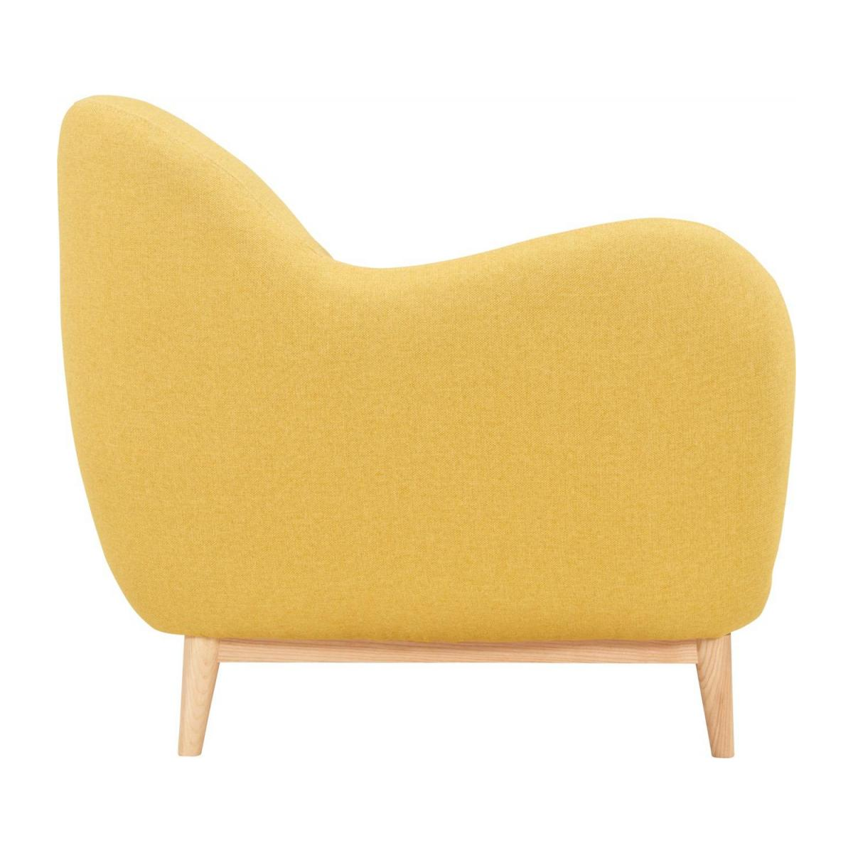 3-seat sofa made of fabric, yellow n°4