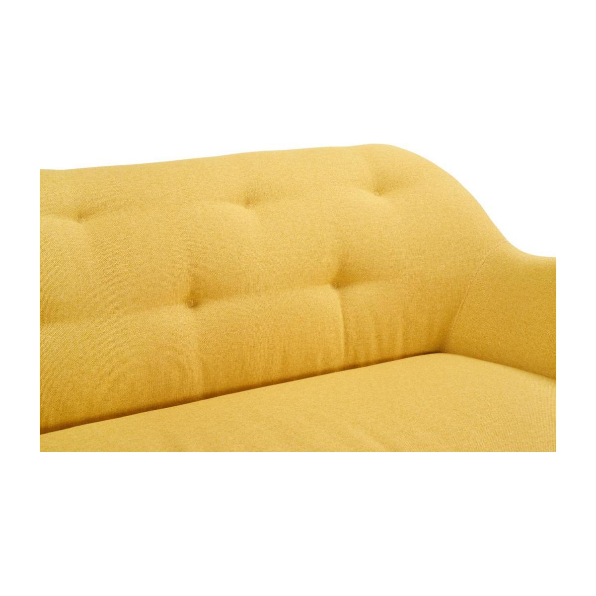 3-seat sofa made of fabric, yellow n°5