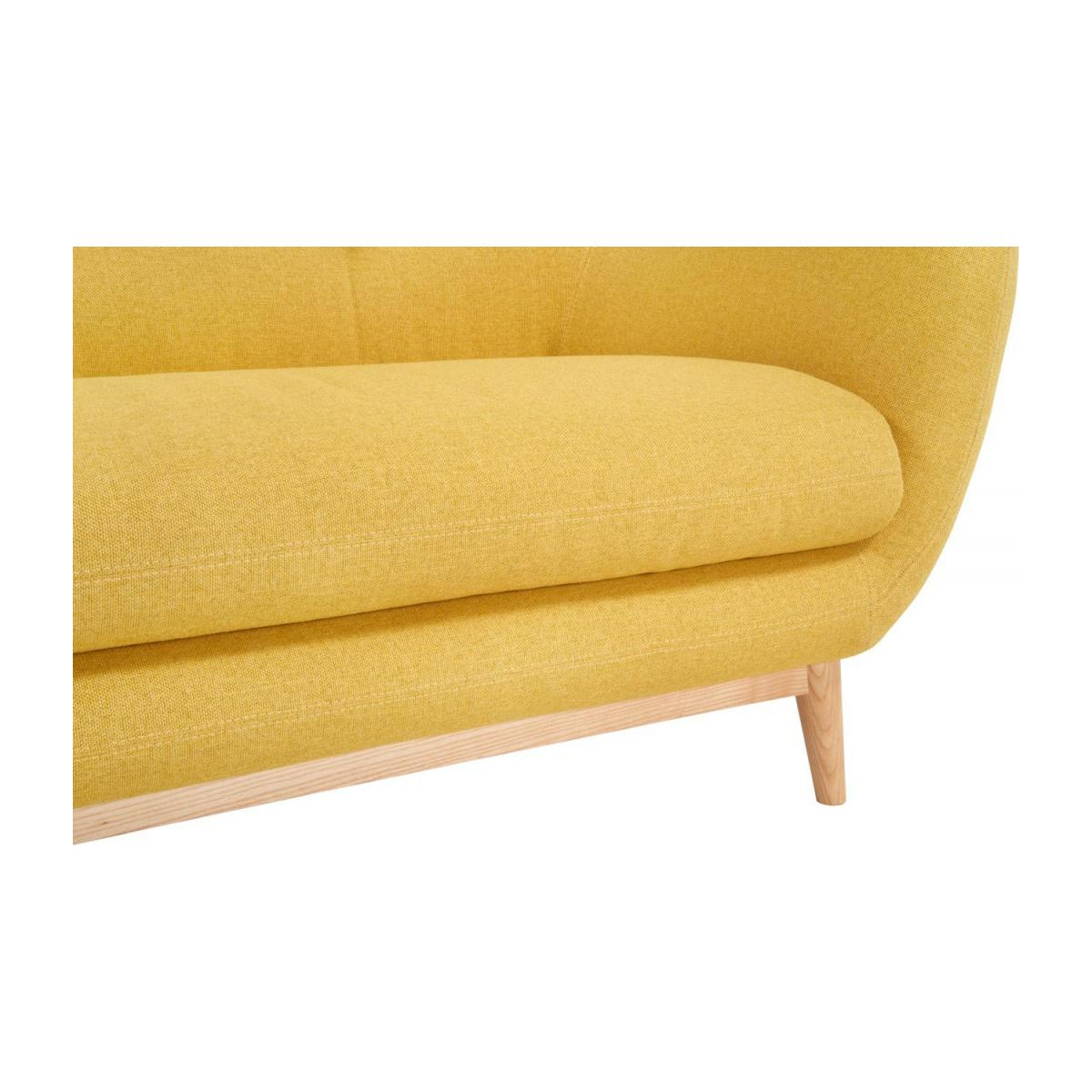 3-seat sofa made of fabric, yellow n°6