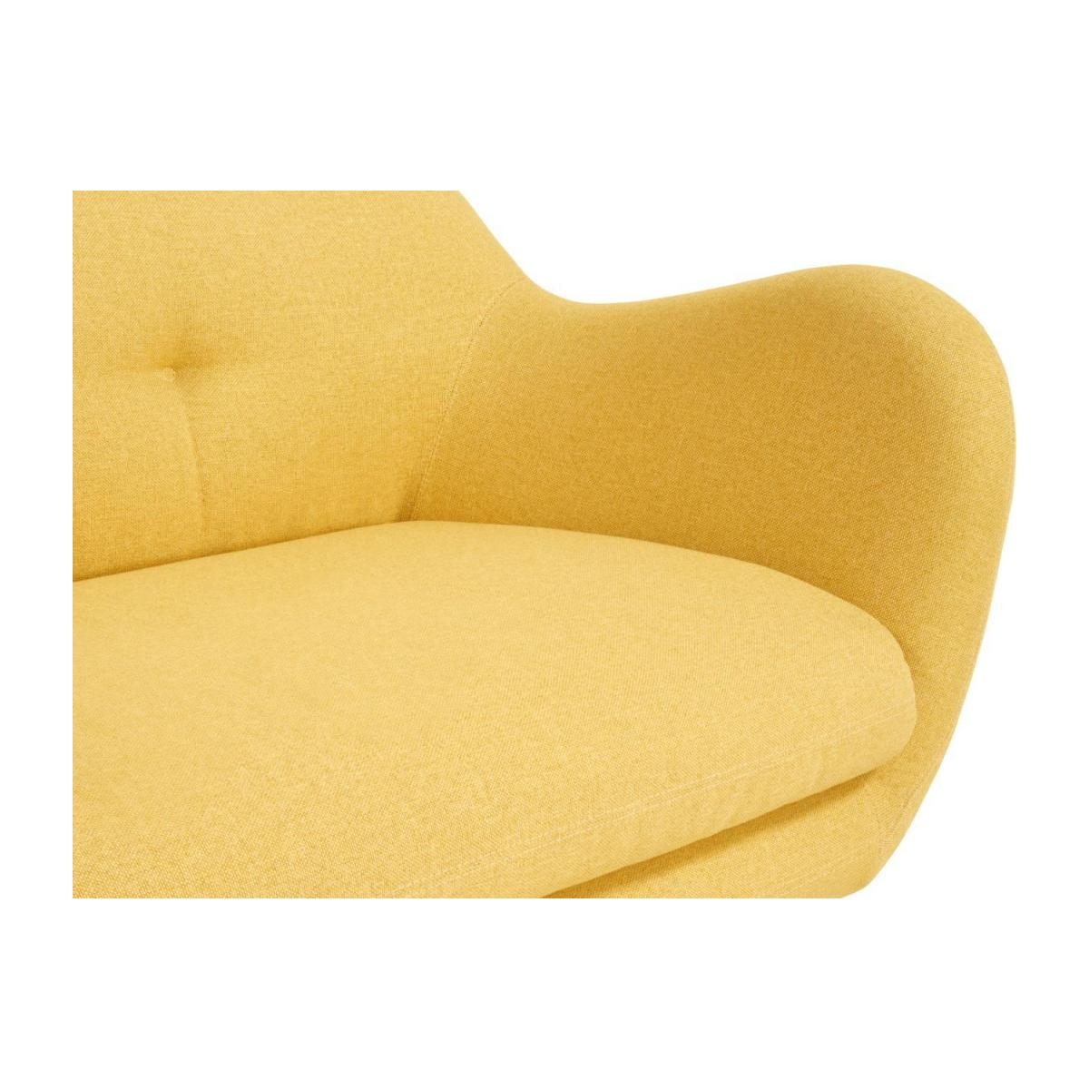 3-seat sofa made of fabric, yellow n°7