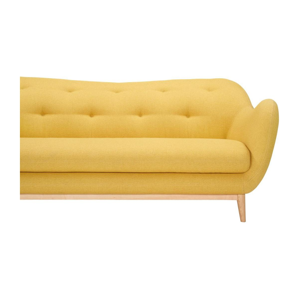 3-seat sofa made of fabric, yellow n°8