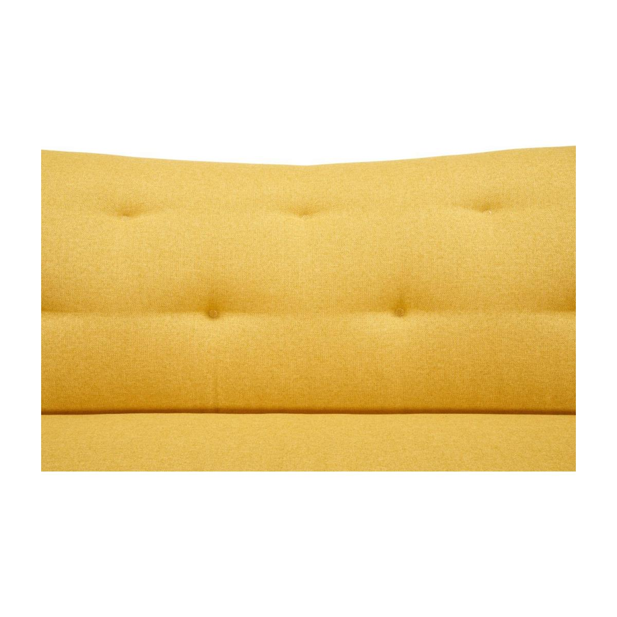3-seat sofa made of fabric, yellow n°9