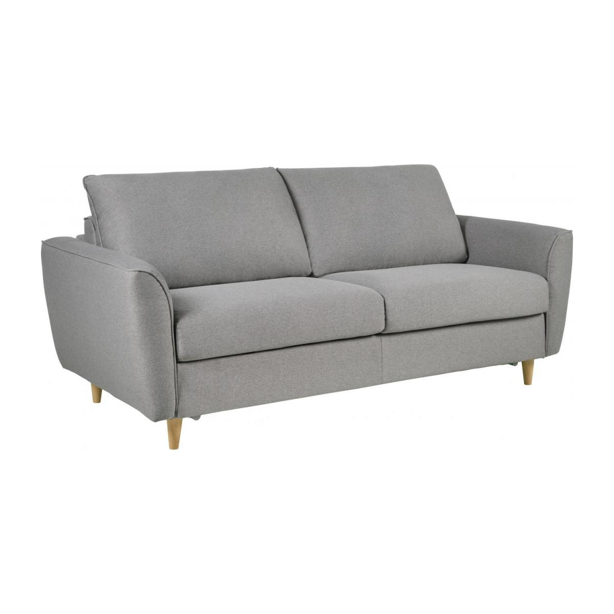 3 seater Fabric Sofa Bed Light Grey n°1
