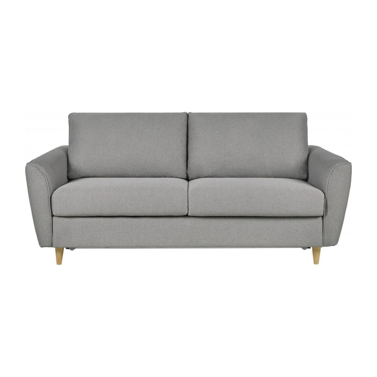 3 seater Fabric Sofa Bed Light Grey n°4