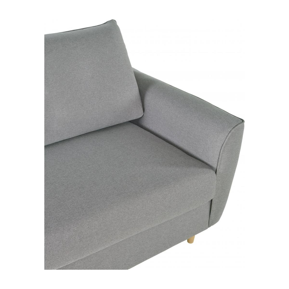 3 seater Fabric Sofa Bed Light Grey n°5