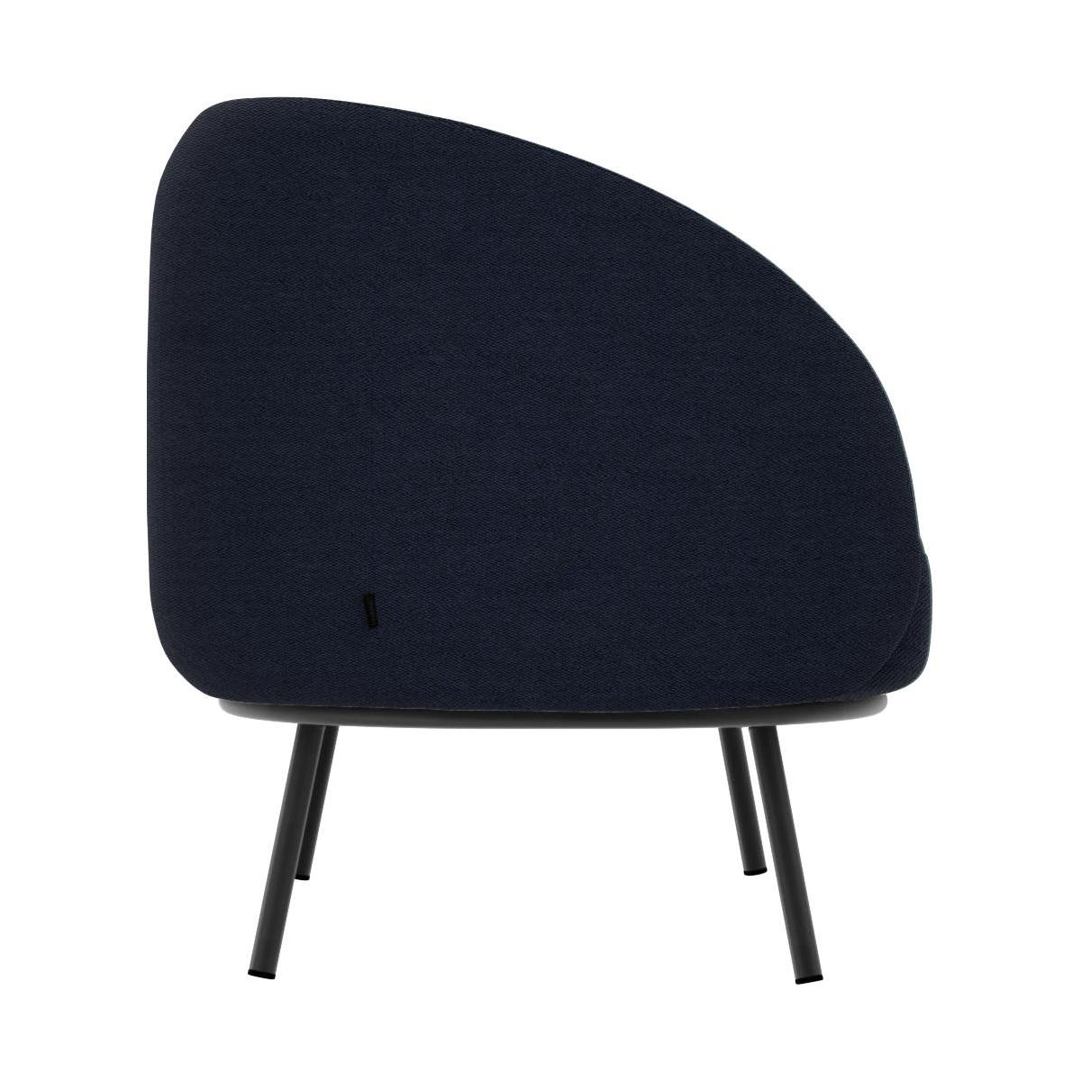 Chaiselongue aus Stoff - Blau  n°5