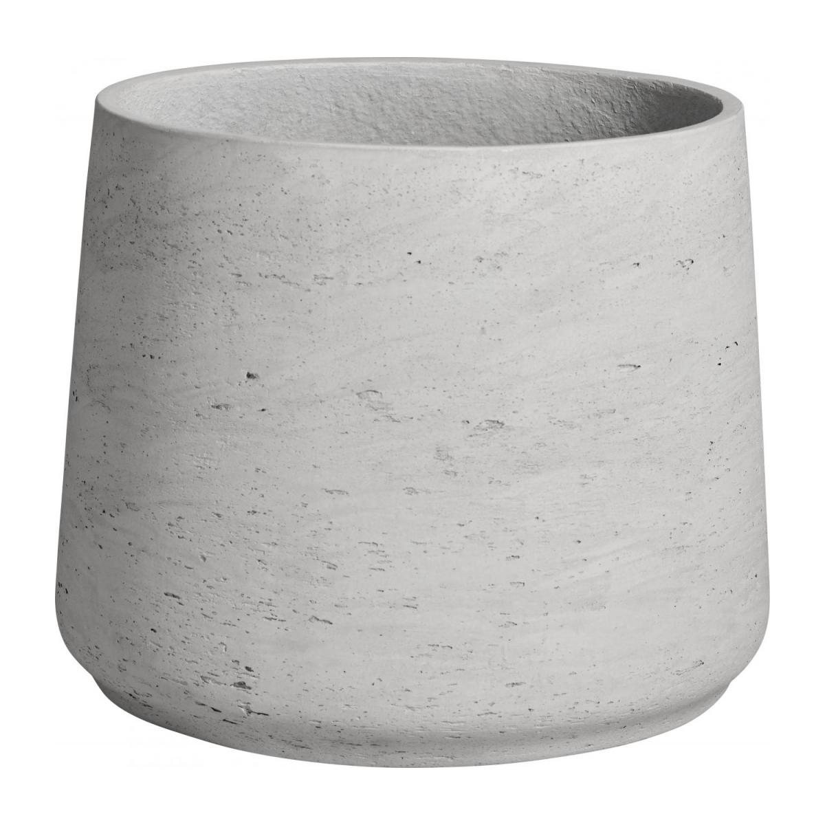 Lot de 2 cache-pots en ciment - Gris clair n°3