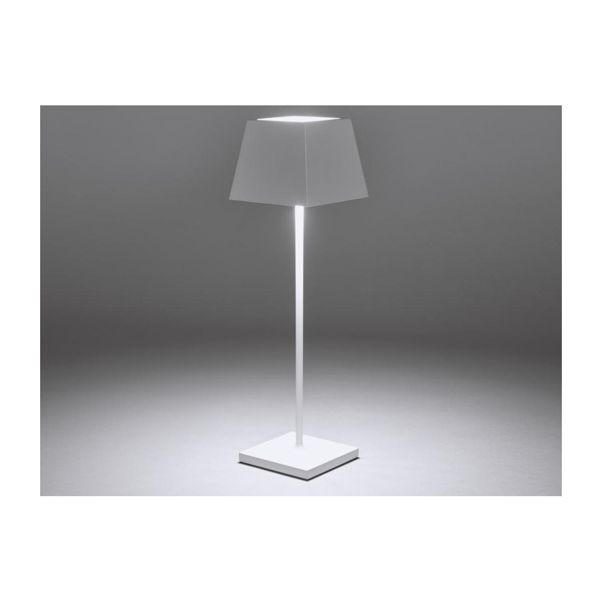 Lampe de table nomade à LED IP54 en aluminium - Blanc n°2