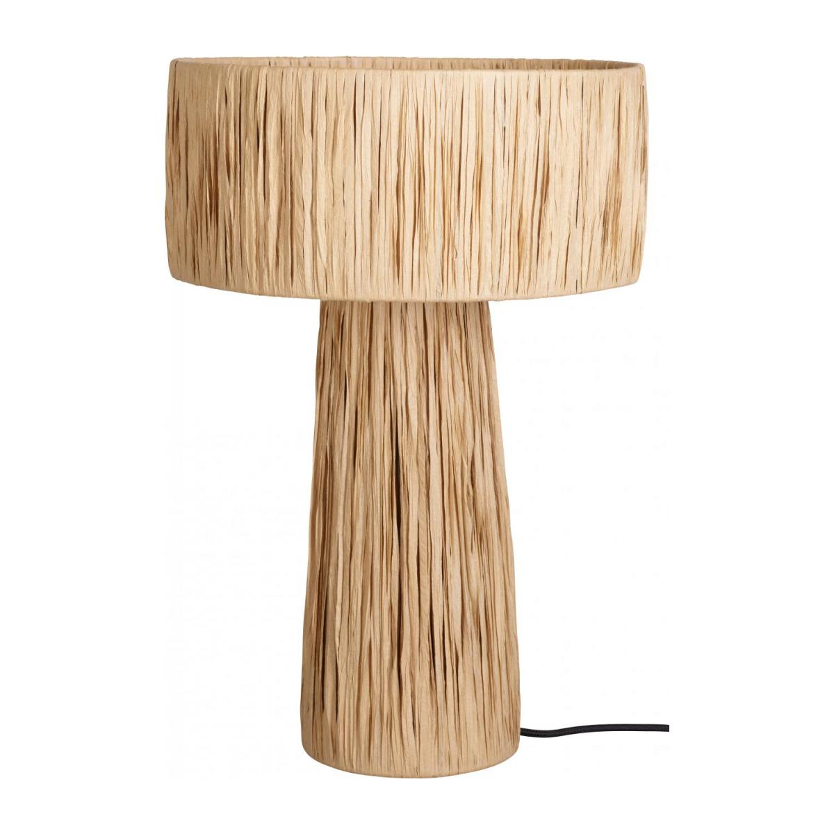 Lampe de table en raphia - Naturel n°1