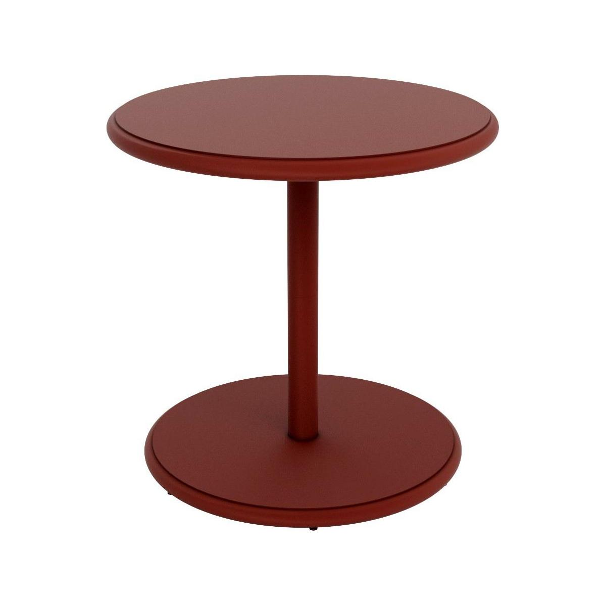 Table d'appoint ronde en aluminium - Rouge n°1