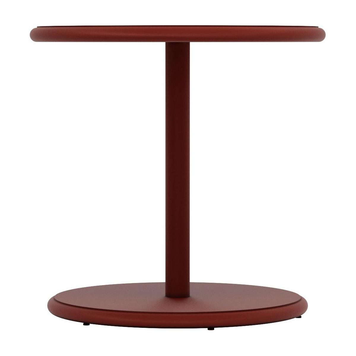 Table d'appoint ronde en aluminium - Rouge n°3