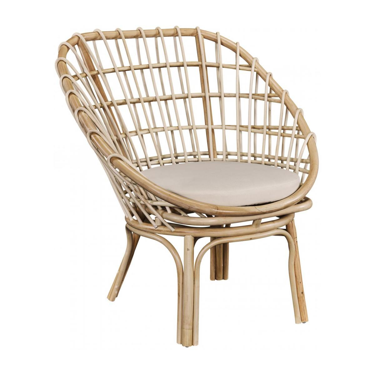 Sessel aus Rattan - Naturfarben - Design by Adrien Carvès n°1