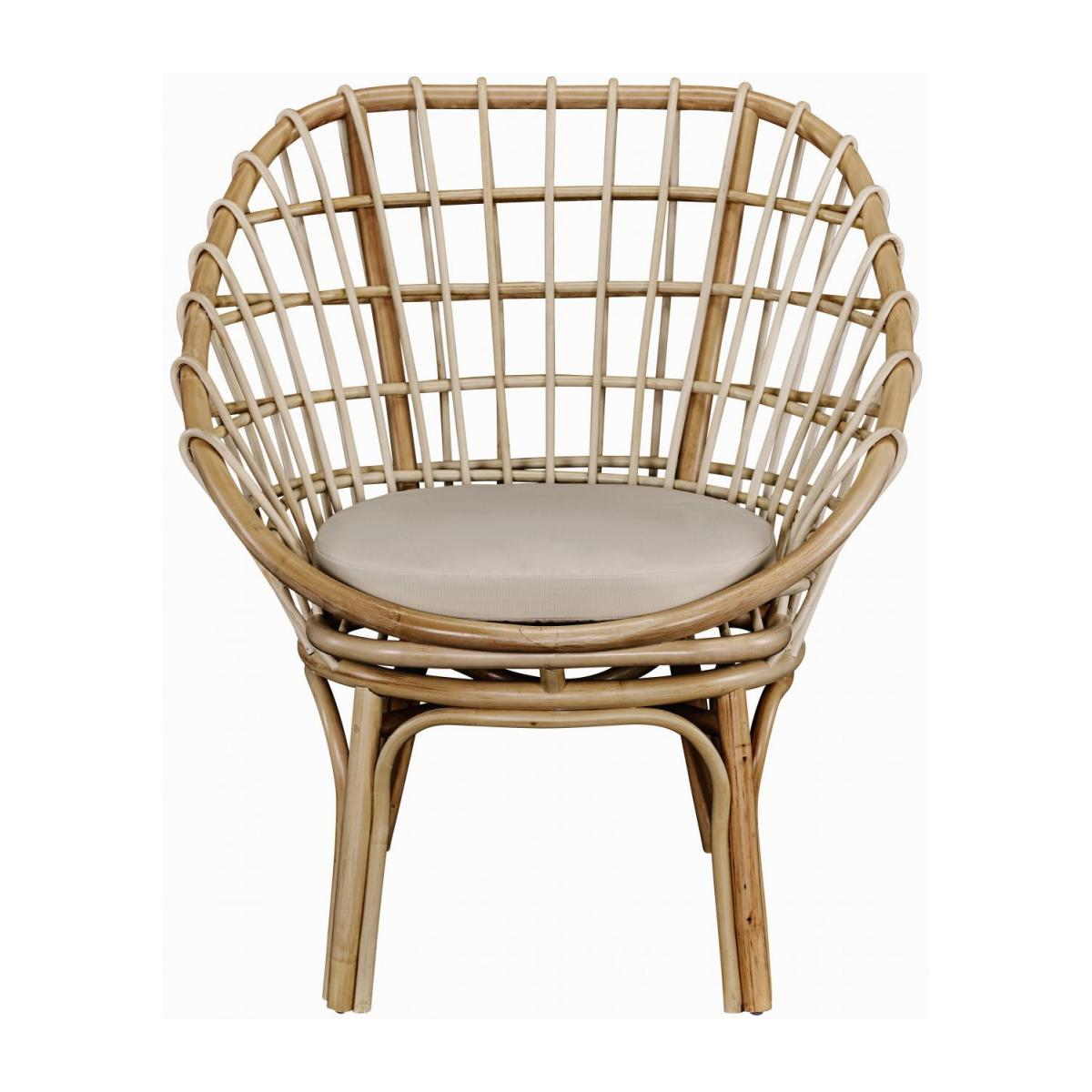 Sessel aus Rattan - Naturfarben - Design by Adrien Carvès n°3