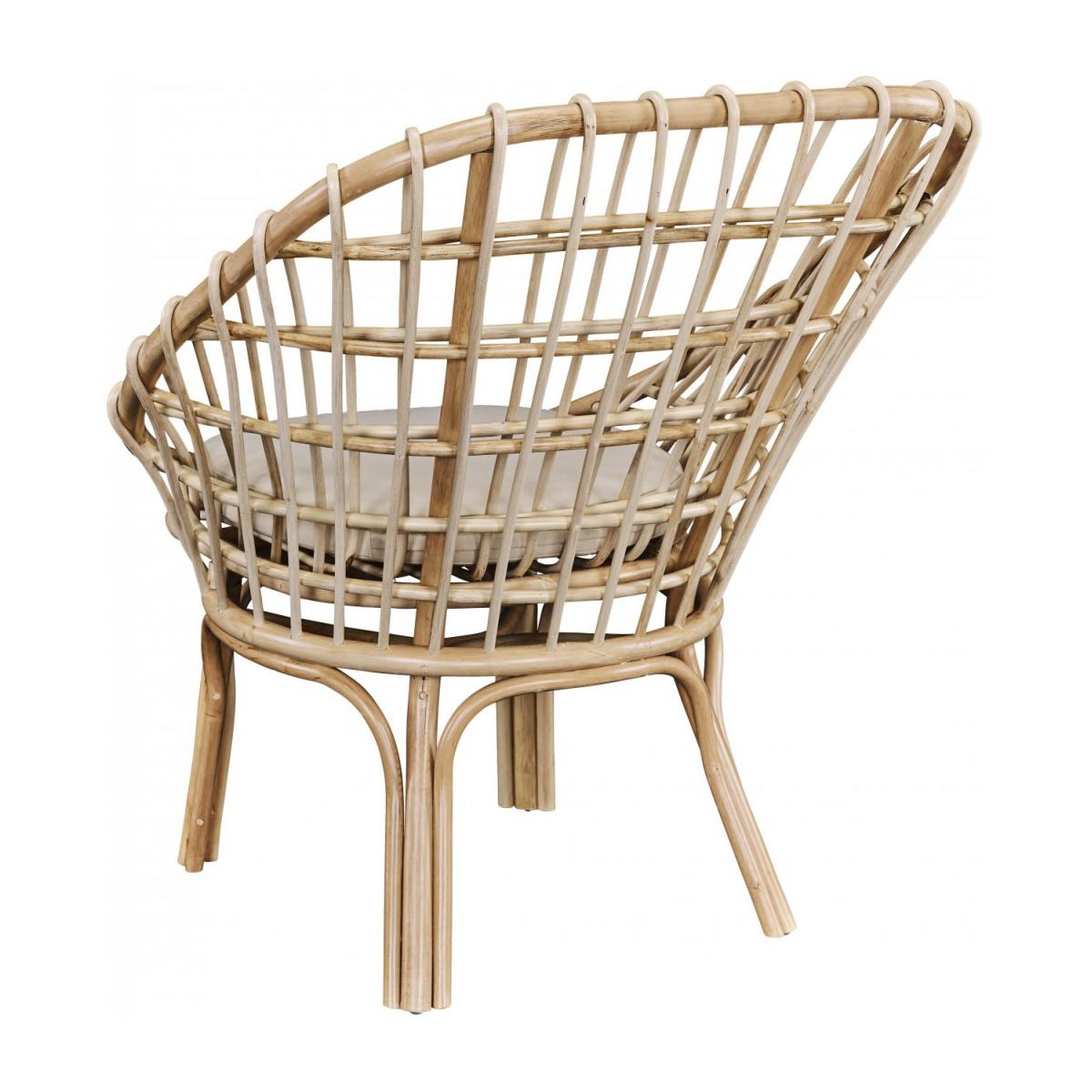 Sessel aus Rattan - Naturfarben - Design by Adrien Carvès n°4