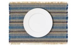 Lot de 2 sets de table - 35 x 50 cm - Bleu