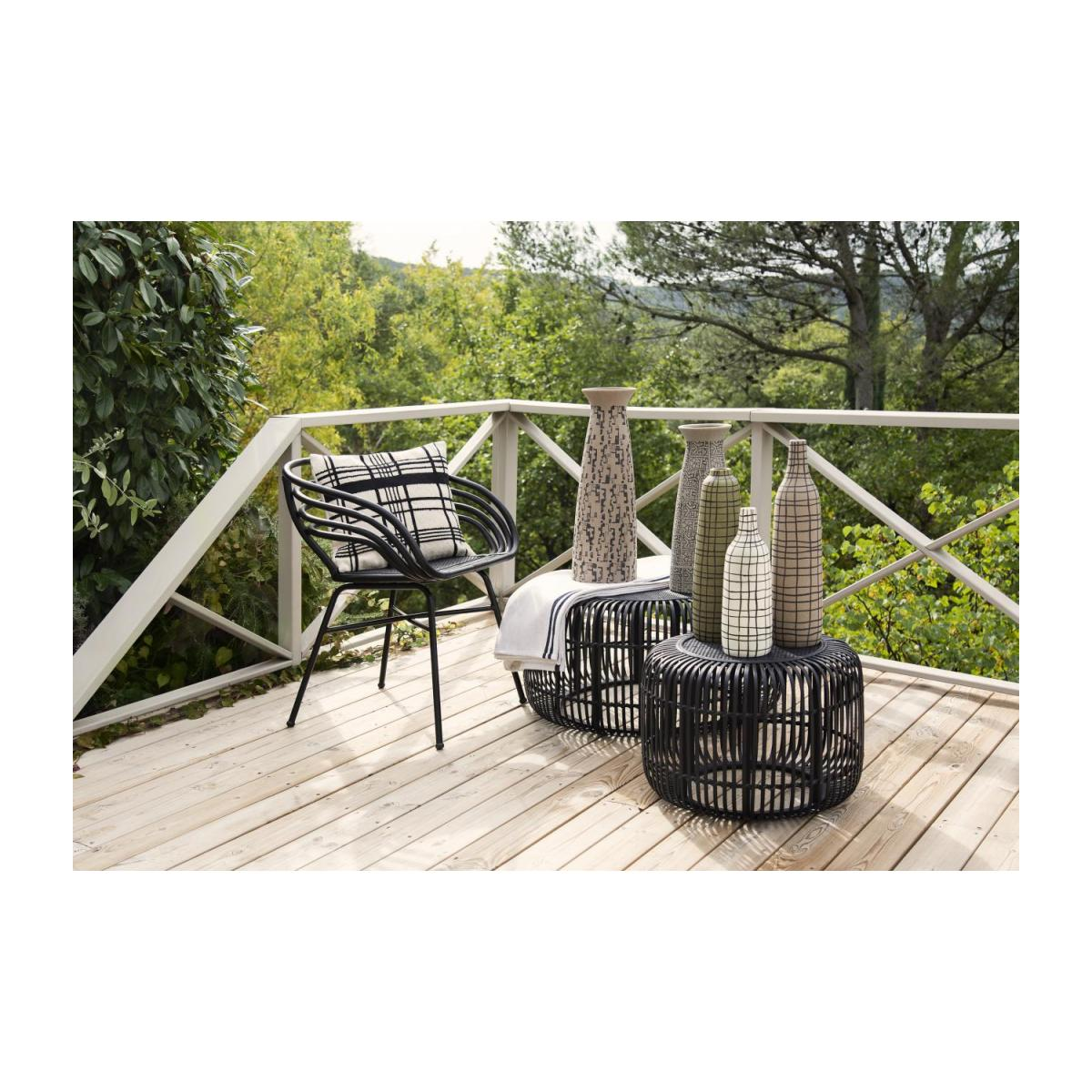 Set de 2 tables basses rondes en Rotin - Noir n°2