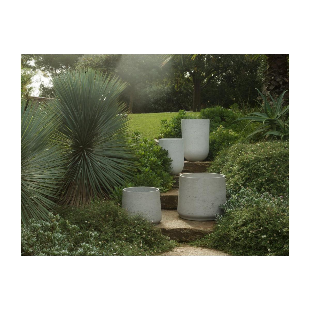 Lot de 2 cache-pots en ciment - Gris clair n°2
