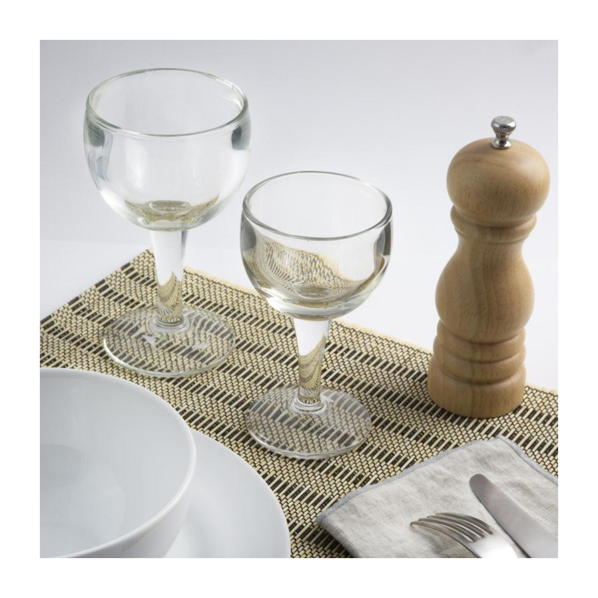 Set of 2 Black Patterned bamboo Placemats n°1