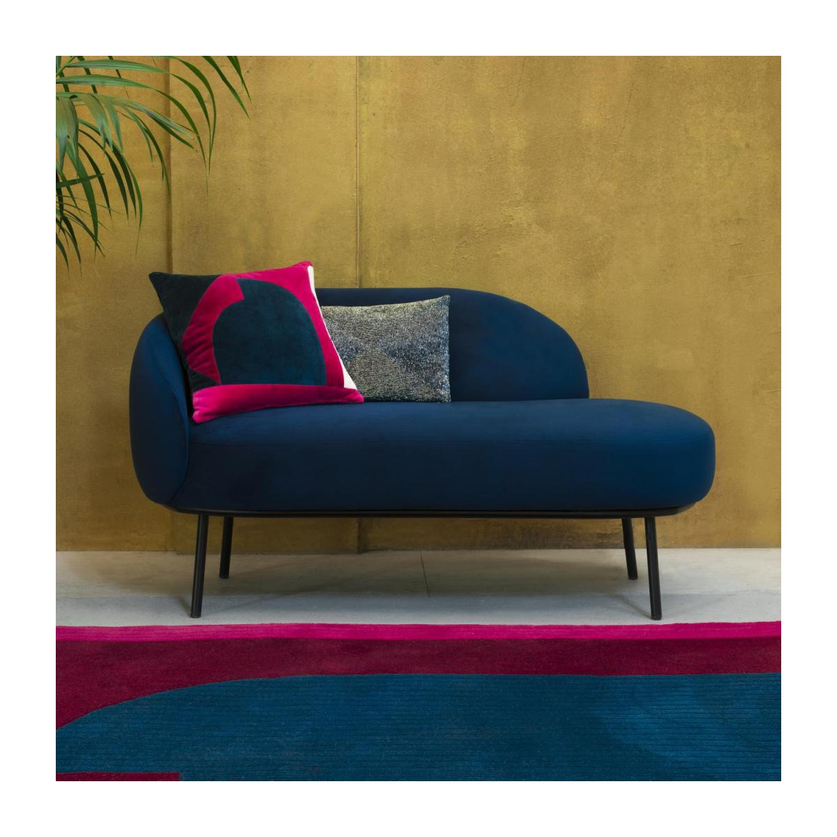 Chaiselongue aus Stoff - Blau  n°2
