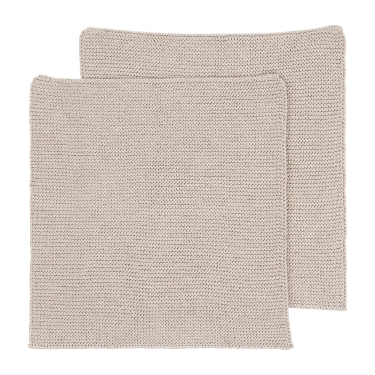 Lot de 2 serviettes de table en coton - 25 x 25 cm - Beige n°3