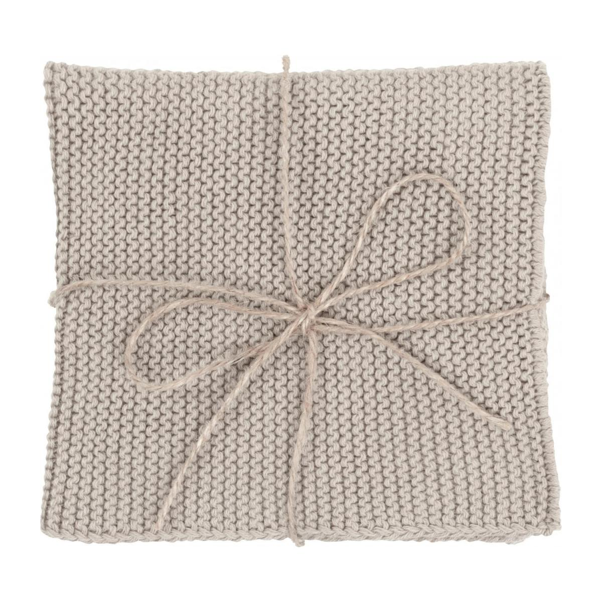 Lot de 2 serviettes de table en coton - 25 x 25 cm - Beige n°4