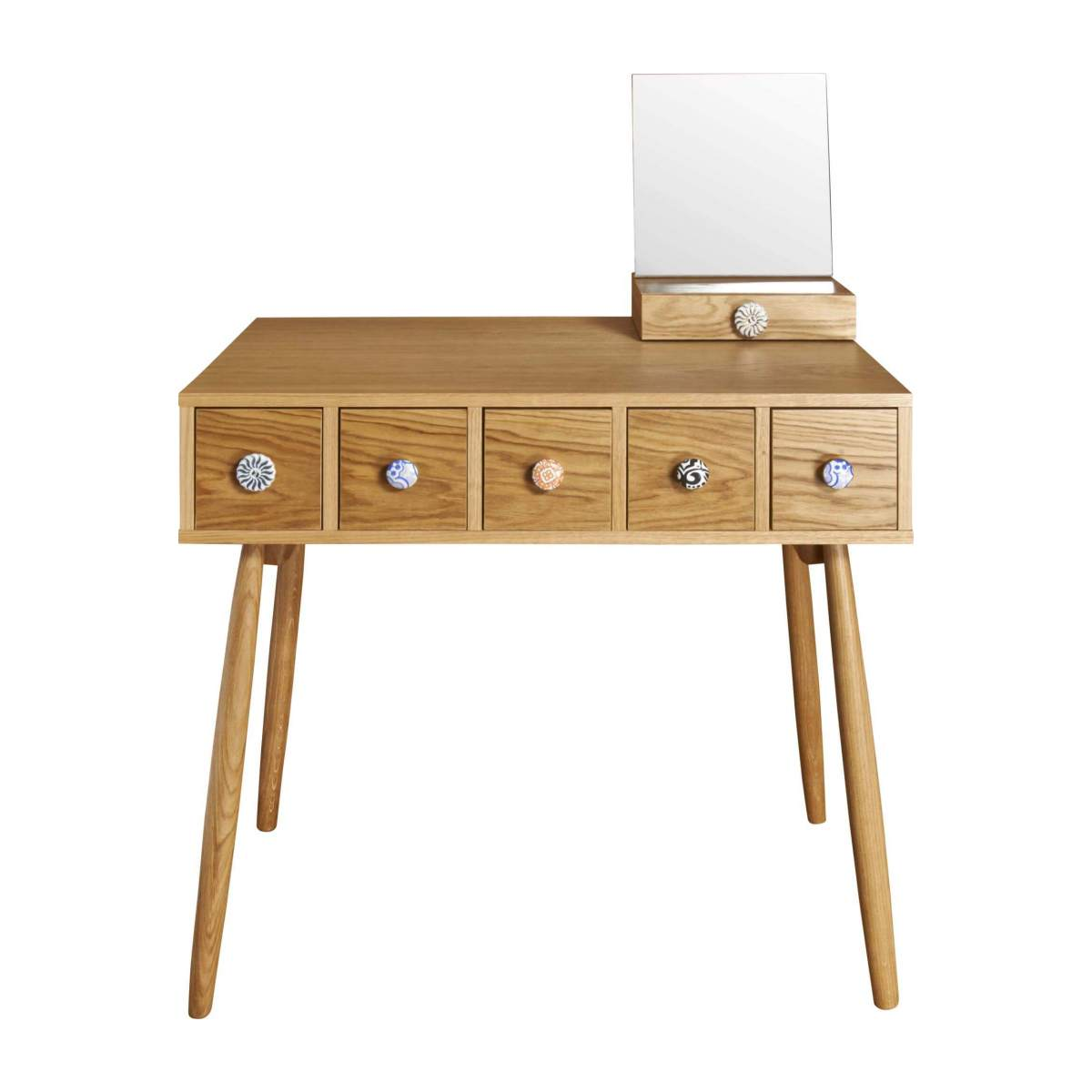 Mirrored 5 drawer dressing table n°2