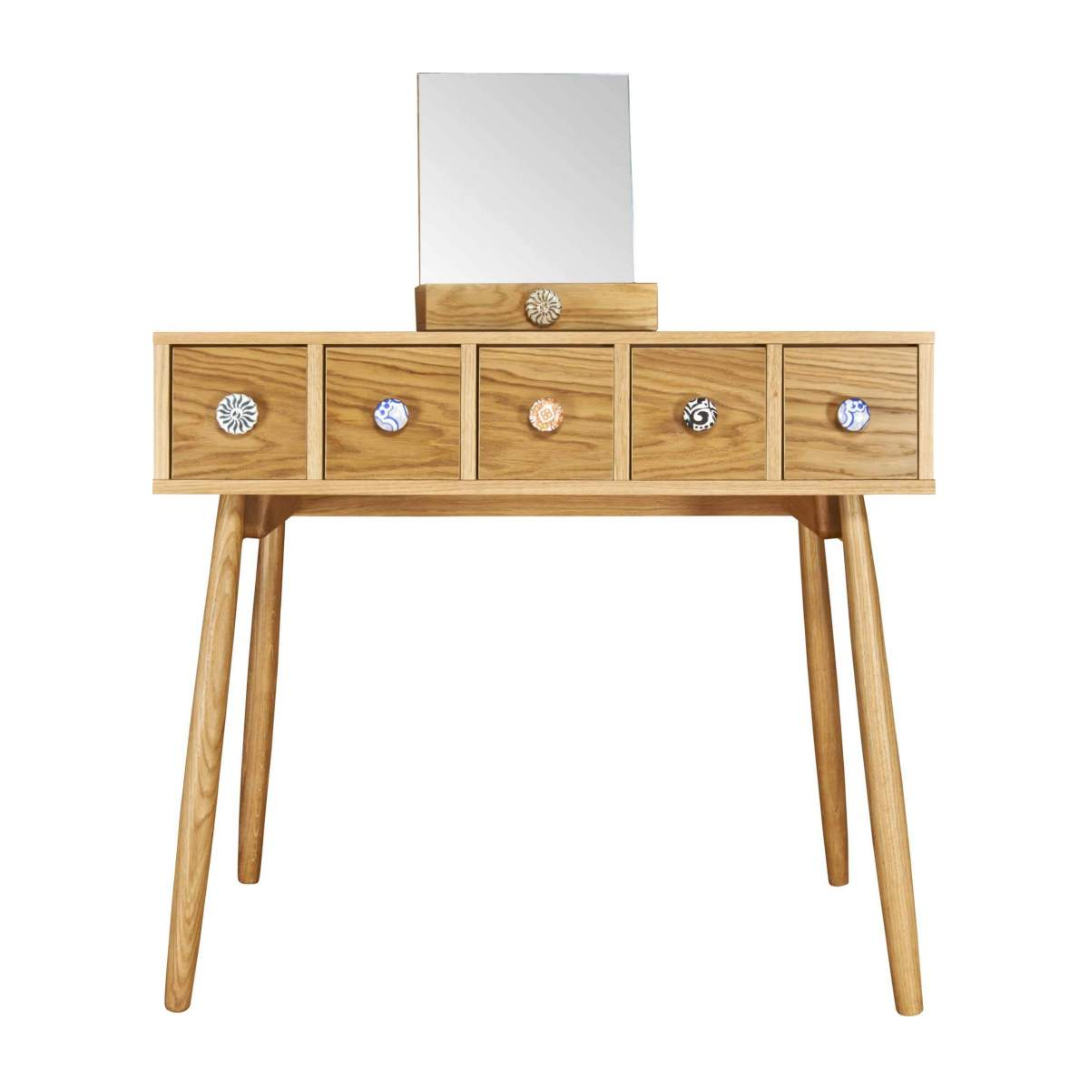 Mirrored 5 drawer dressing table n°3