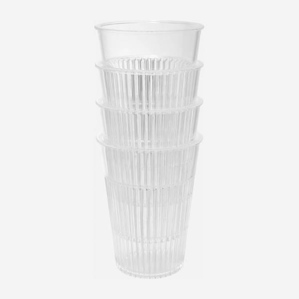 Set of 4 big tumblers made of plastic