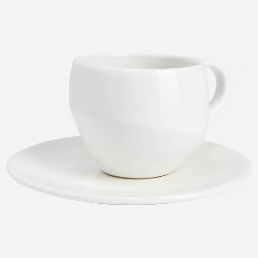 Coffee cup in porcelain, white