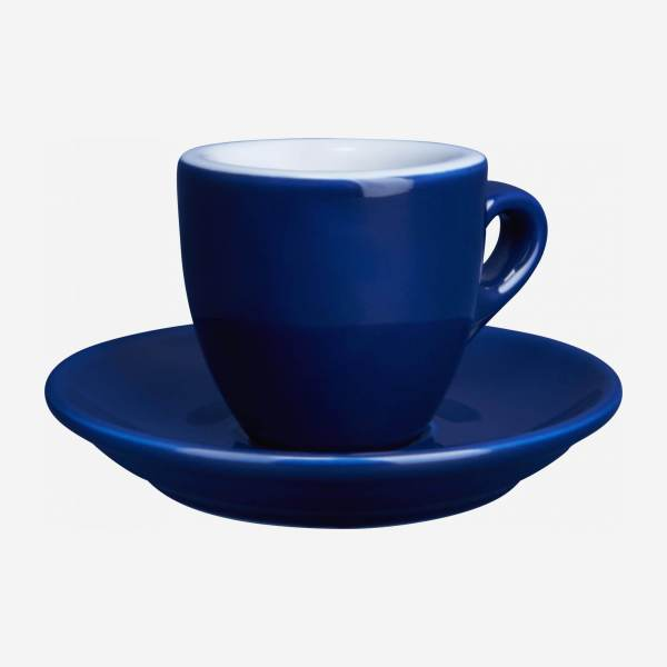 Expresso cup in porcelain, blue