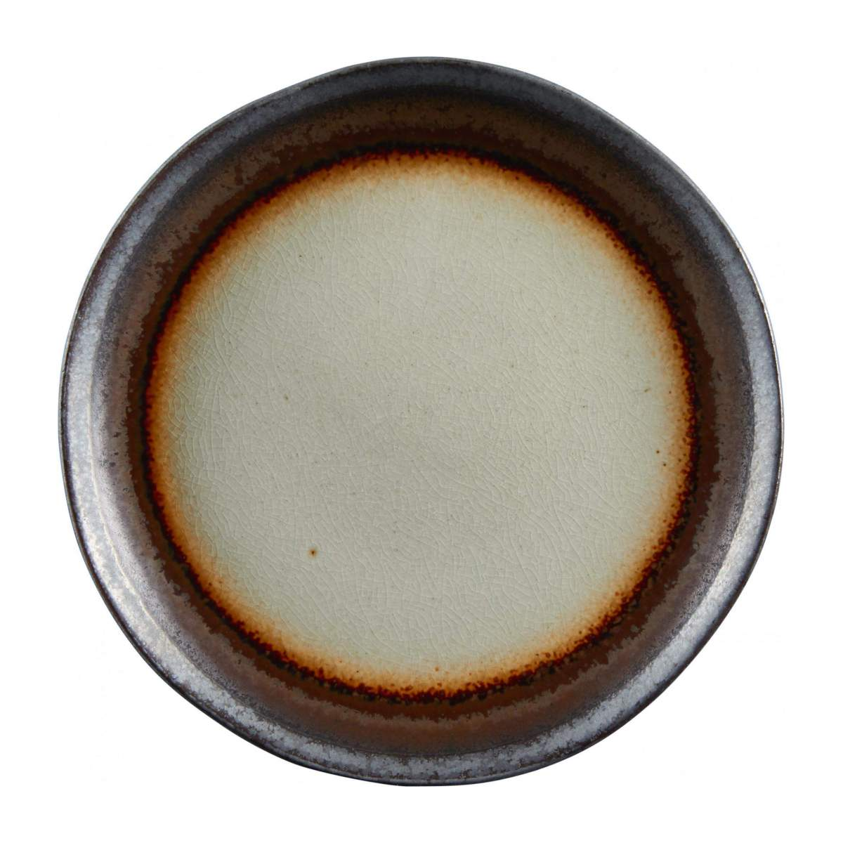 Dessert plate made of sandstone 22cm, grey and brown n°1